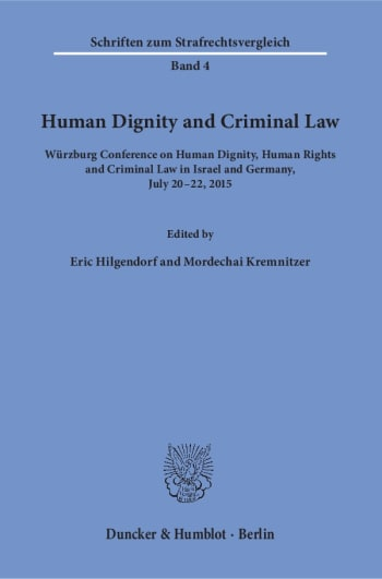 Cover: Human Dignity and Criminal Law