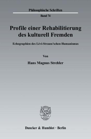 Cover: Profile einer Rehabilitierung des kulturell Fremden
