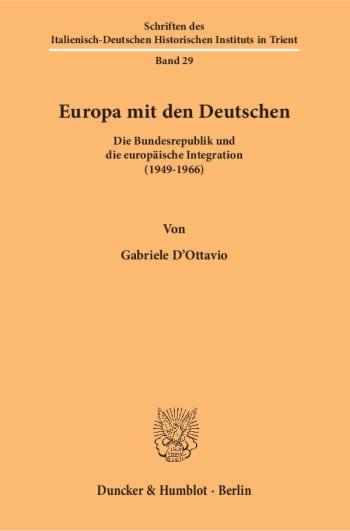 Cover: Schriften des Italienisch-Deutschen Historischen Instituts in Trient (HIST)