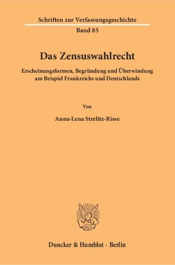 Cover: Das Zensuswahlrecht