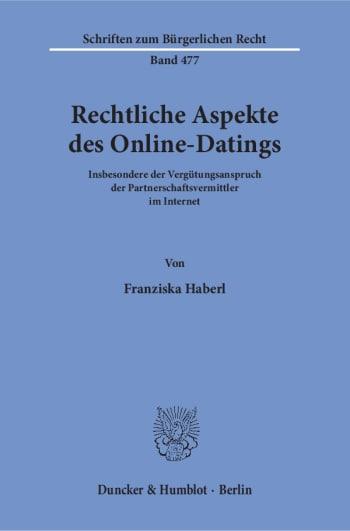 Cover: Rechtliche Aspekte des Online-Datings