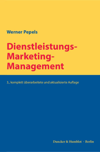 Cover: Dienstleistungs-Marketing-Management
