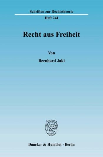 Cover: Recht aus Freiheit