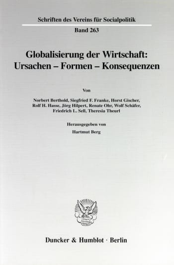 Cover: Globalisierung der Wirtschaft: Ursachen - Formen - Konsequenzen