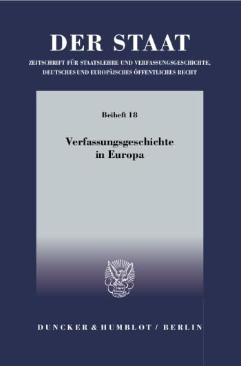 Cover: Verfassungsgeschichte in Europa