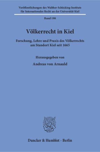 Cover: Völkerrecht in Kiel