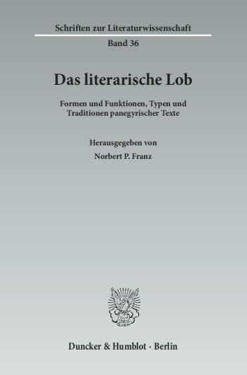 Cover: Das literarische Lob