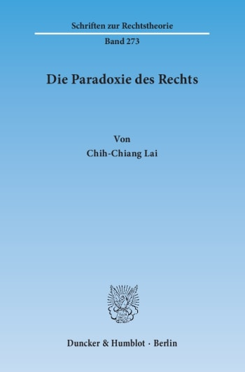 Cover: Die Paradoxie des Rechts