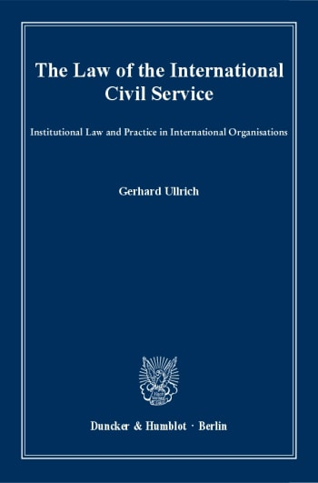 Cover: The Law of the International Civil Service