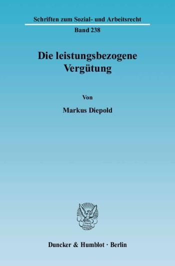 Cover: Die leistungsbezogene Vergütung