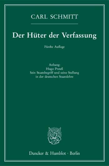 Cover: Der Hüter der Verfassung
