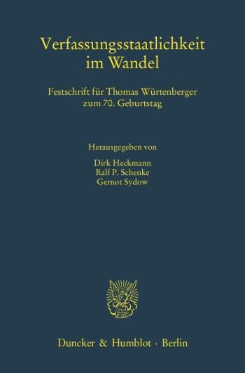 Cover: Verfassungsstaatlichkeit im Wandel