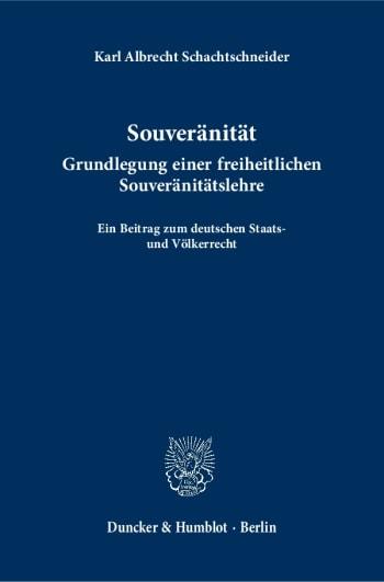 Cover: Souveränität