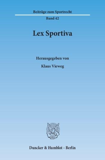 Cover: Lex Sportiva