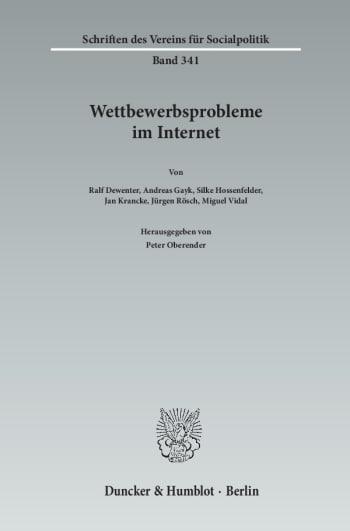 Cover: Wettbewerbsprobleme im Internet