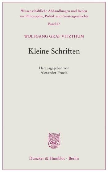 Cover: Kleine Schriften