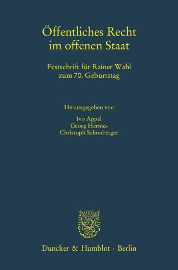 Cover: Öffentliches Recht im offenen Staat