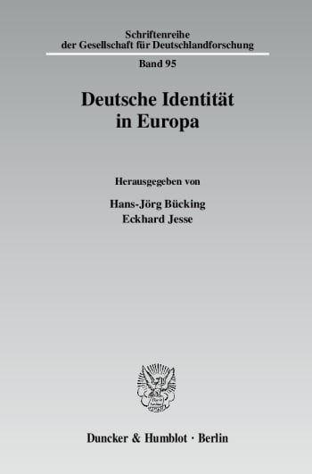 Cover: Deutsche Identität in Europa