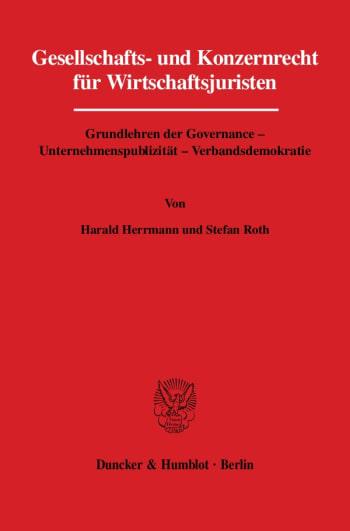 Cover: Gesellschafts- und Konzernrecht für Wirtschaftsjuristen