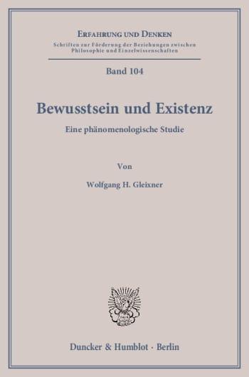 Cover: Bewusstsein und Existenz