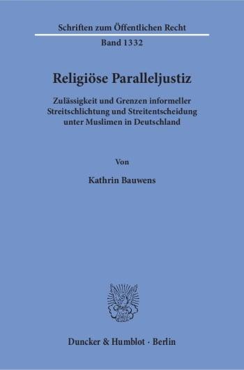 Cover: Religiöse Paralleljustiz