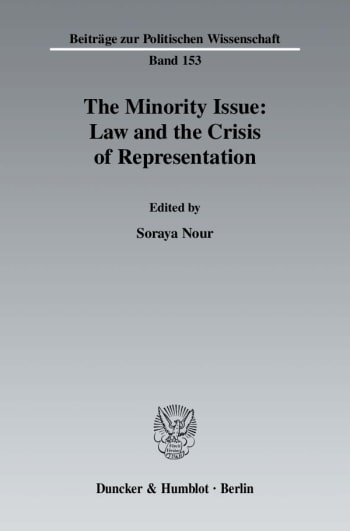 Cover: The Minority Issue: Law and the Crisis of Representation
