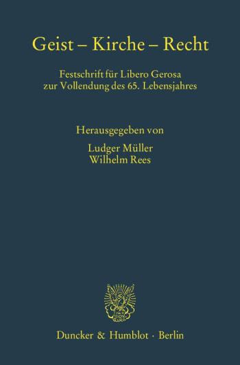Cover: Geist – Kirche – Recht