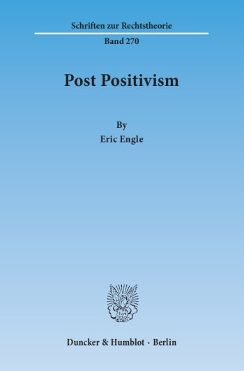 Cover: Post Positivism