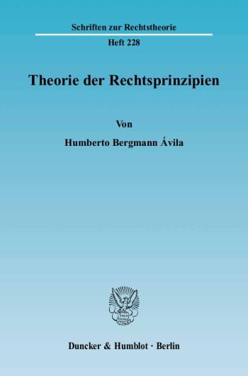 Cover: Theorie der Rechtsprinzipien