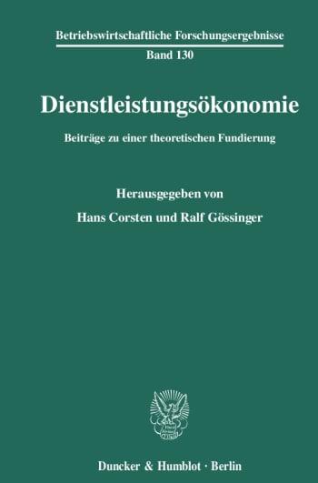 Cover: Dienstleistungsökonomie
