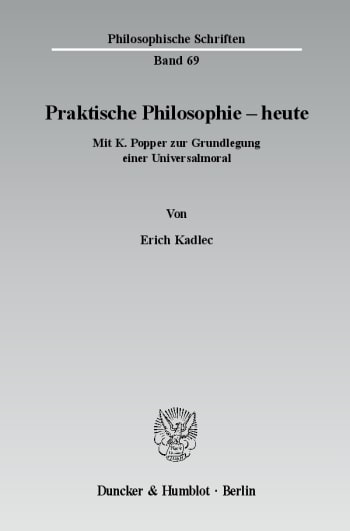 Cover: Praktische Philosophie - heute