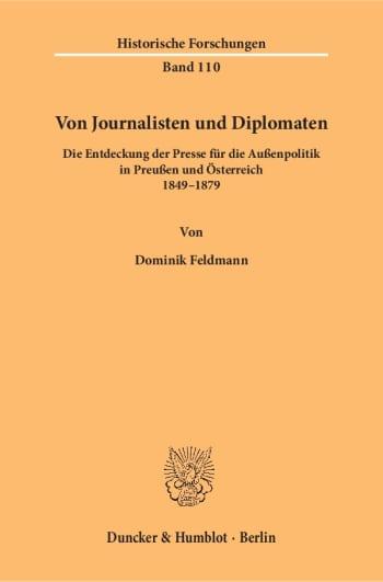 Cover: Von Journalisten und Diplomaten