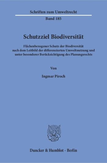Cover: Schutzziel Biodiversität
