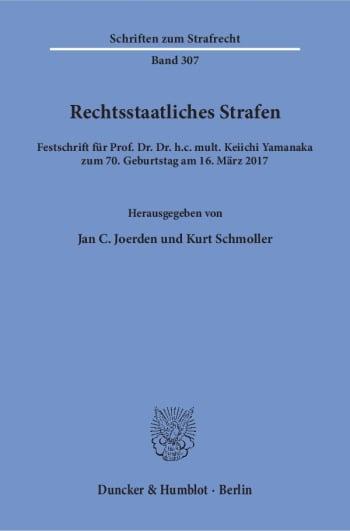 Cover: Rechtsstaatliches Strafen