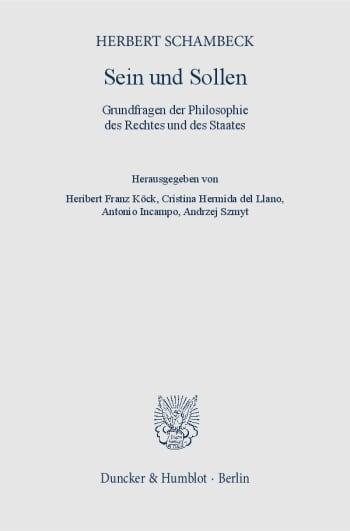 Cover: Sein und Sollen