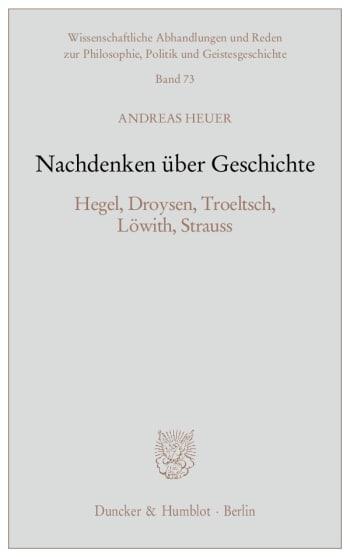 Cover: Nachdenken über Geschichte