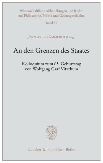 Cover: An den Grenzen des Staates