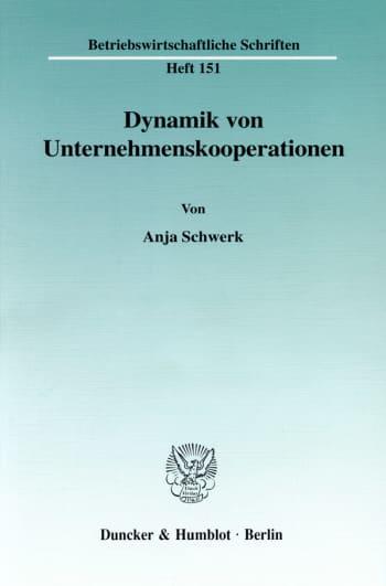 Cover: Dynamik von Unternehmenskooperationen