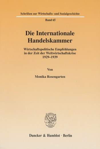 Cover: Die Internationale Handelskammer