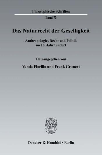 Cover: Das Naturrecht der Geselligkeit