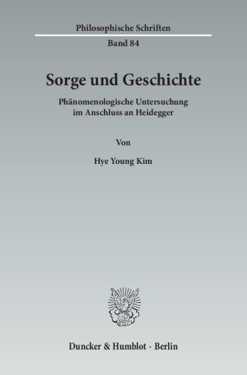 Cover: Sorge und Geschichte