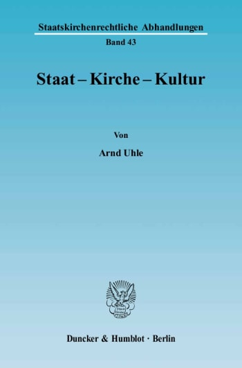 Cover: Staat - Kirche - Kultur