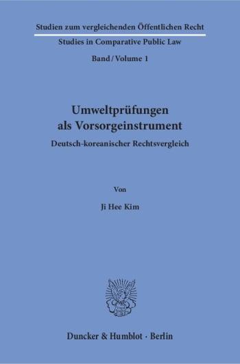 Cover: Umweltprüfungen als Vorsorgeinstrument