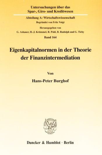 Cover: Eigenkapitalnormen in der Theorie der Finanzintermediation