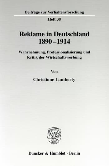 Cover: Reklame in Deutschland 1890-1914