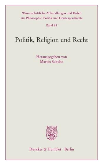 Cover: Politik, Religion und Recht