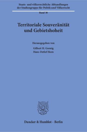 Cover: Territoriale Souveränität und Gebietshoheit