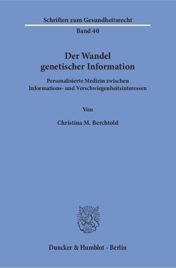Cover: Der Wandel genetischer Information