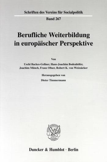 Cover: Berufliche Weiterbildung in europäischer Perspektive