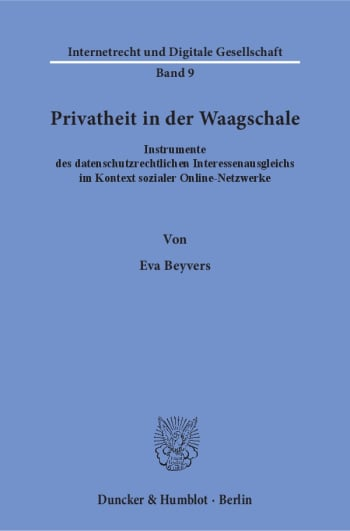 Cover: Privatheit in der Waagschale